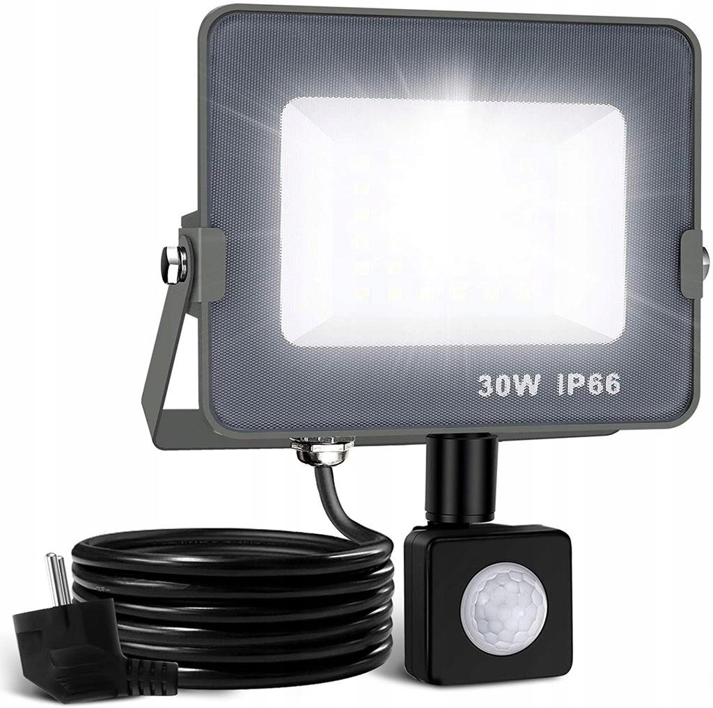Elfeland Zewnętrzny reflektor LED z czujnikiem 30W