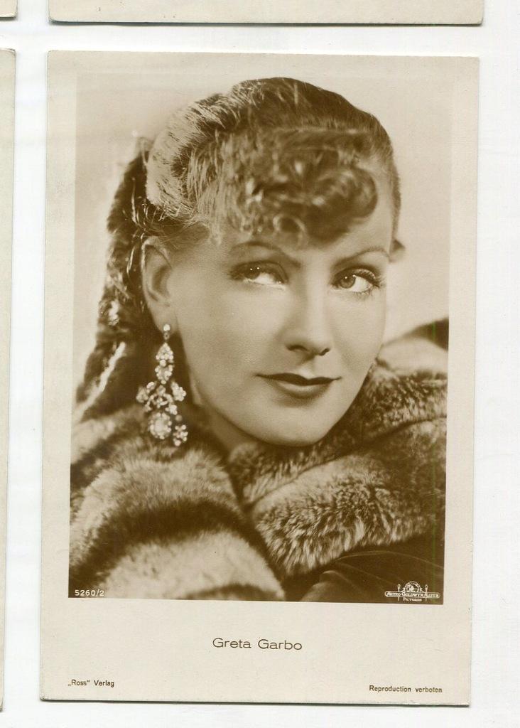 Greta Garbo Kino Film Aktorka Foto Pocztówka 65