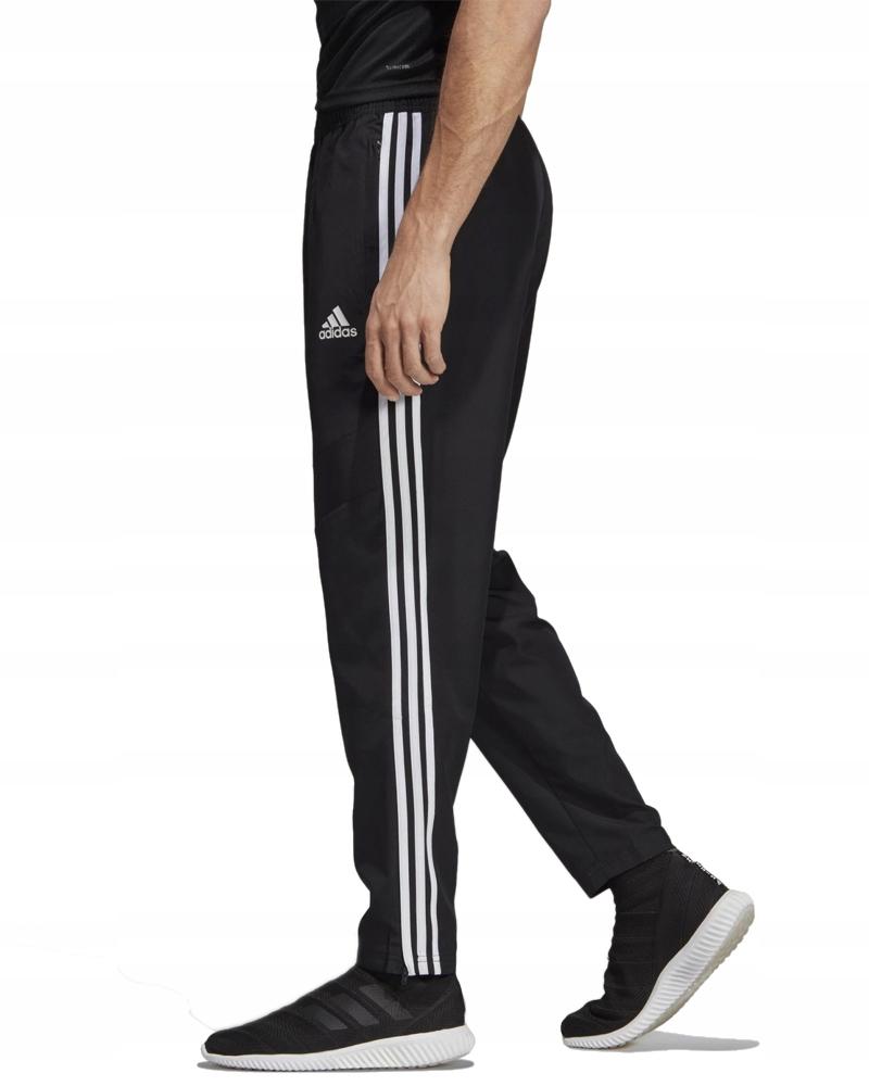 Adidas Spodnie Treningowe Męskie Trzy Paski Zapinane Kieszenie