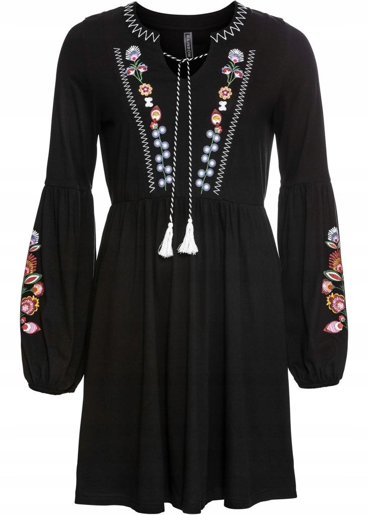D263 BPC Sukienka shirtowa z nadrukiem r.52/54