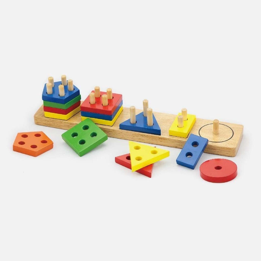 Viga 58558 Klocki z sorterem kształtów - figury ge