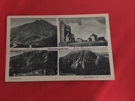 Pocztówka stara Riesengebirge Karkonosze