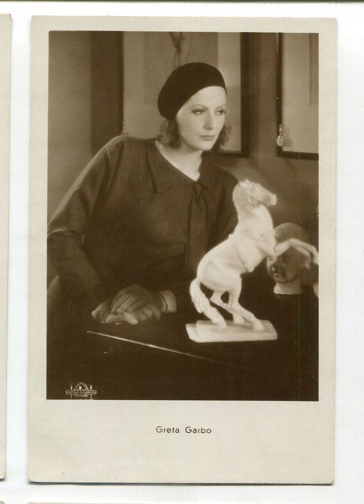 Greta Garbo Kino Film Aktorka Foto Pocztówka 67