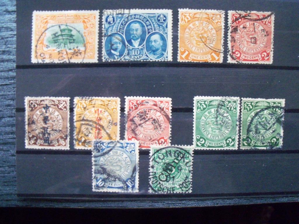 Chiny (Imper.) - Duży zest. kas. ok. 1902/09 r.