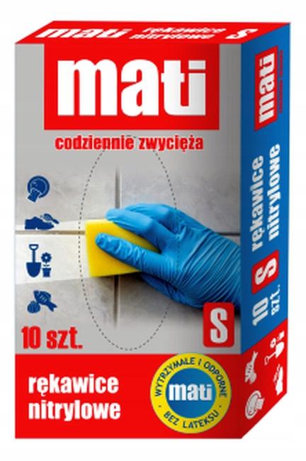 Mati Rękawice nitrylowe rozmiar S 10 szt.