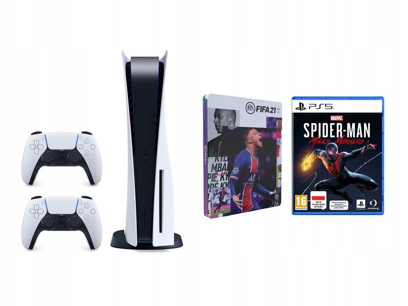 PlayStation 5 + PAD +Spider-Man +FIFA 21 Od ręki