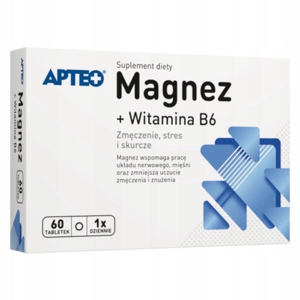 Magnez + Wit. B6 APTEO x 60 tabletek