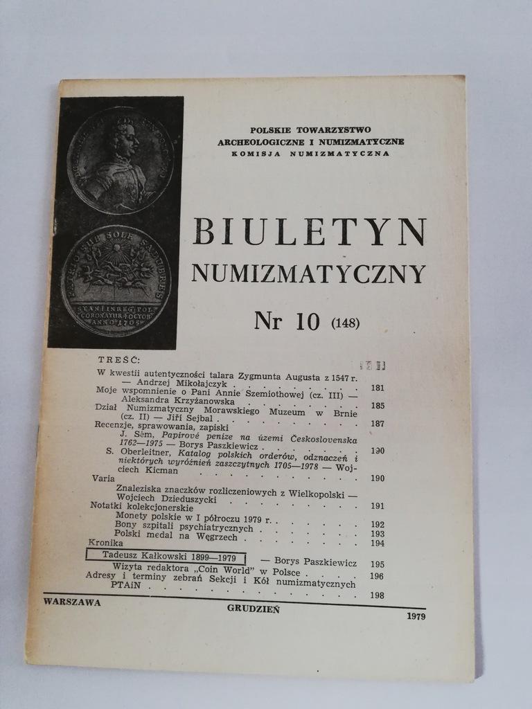 Biuletyn Numizmatyczny 10 (148) 1979 r.