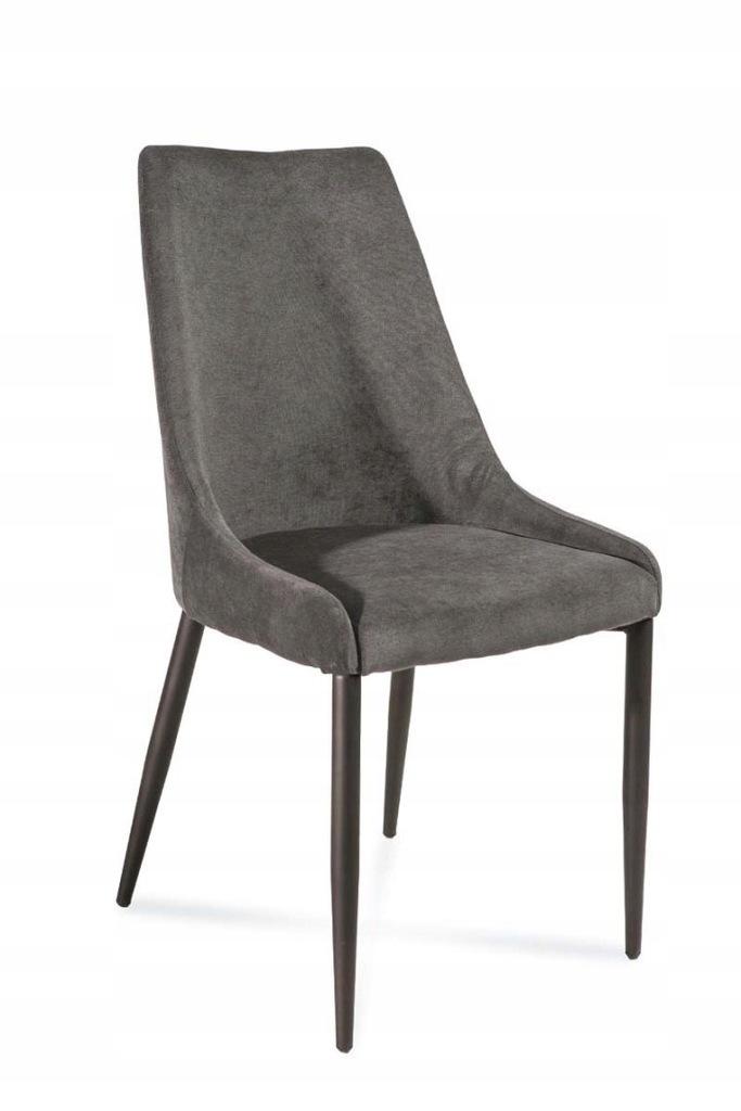 Krzesło LUIS ciemny szary/czarny połysk