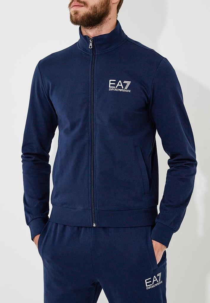 EMPORIO ARMANI EA7 sportowy dres ORYGINAŁ BLUE L