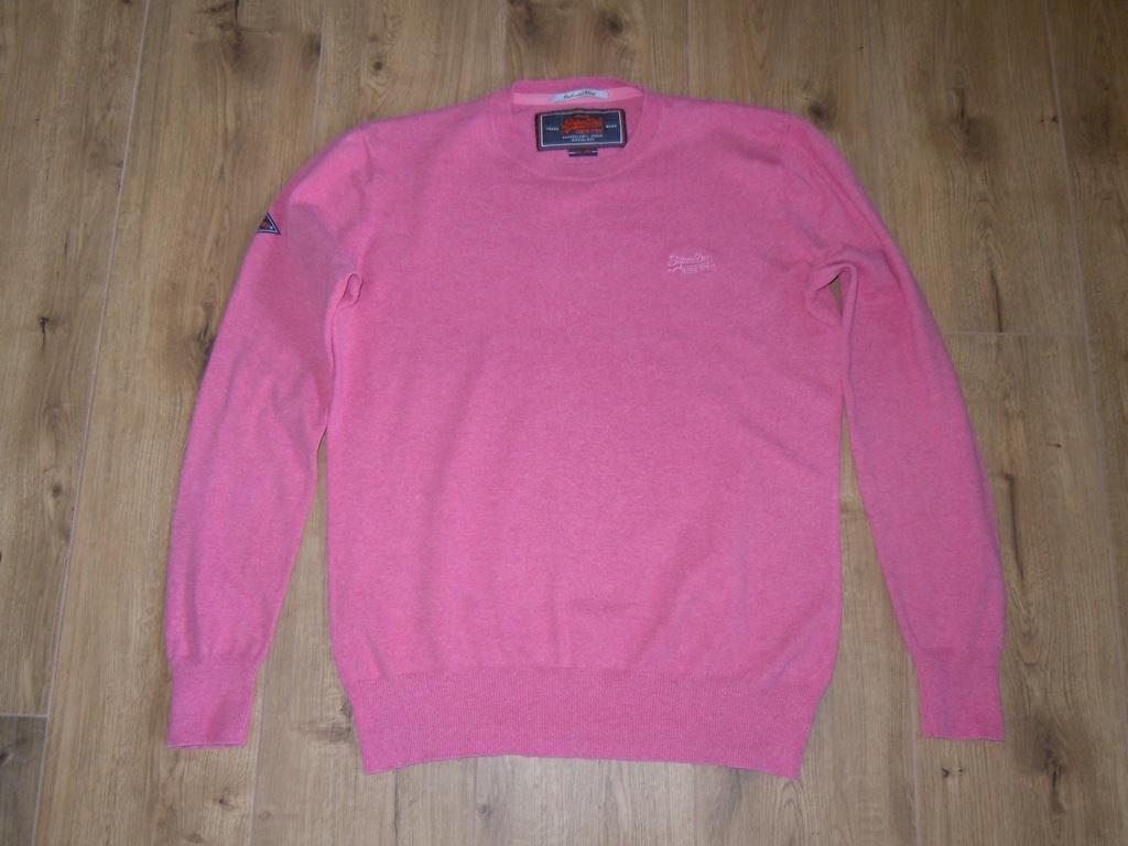SUPERDRY świetny sweter r .L BDB różowy