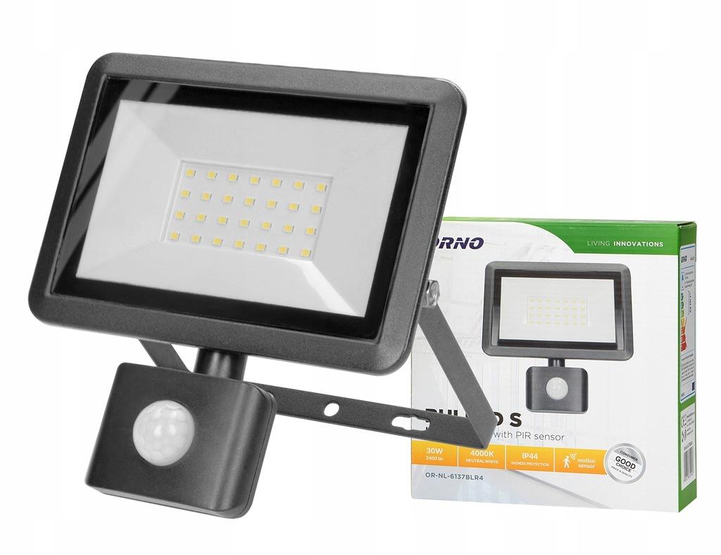 Naświetlacz LED Czujnikiem Ruchu PIR 30W ORNO IP44