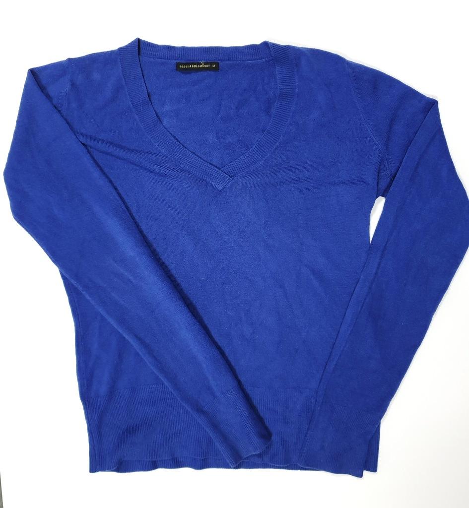 Sweterek kobalt NEXT casual basic L 40