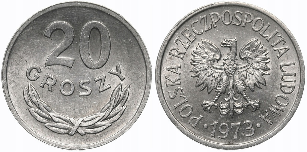 238.Polska - PRL - 20 groszy - 1973 - St.1- #A