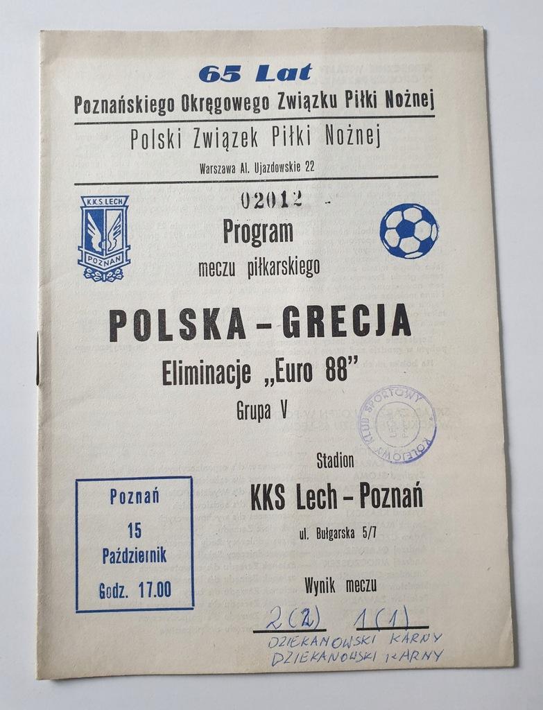 PROGRAM POLSKA - GRECJA 1986