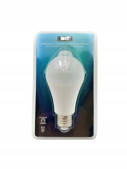 Żarówka LED z czujnikiem zmierzchu i ruchu E27