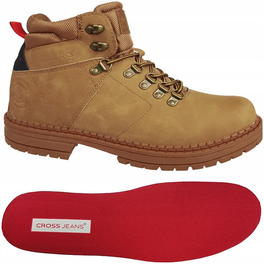 Buty męskie CROSS Jeans camel trekkingowe EE1R4031