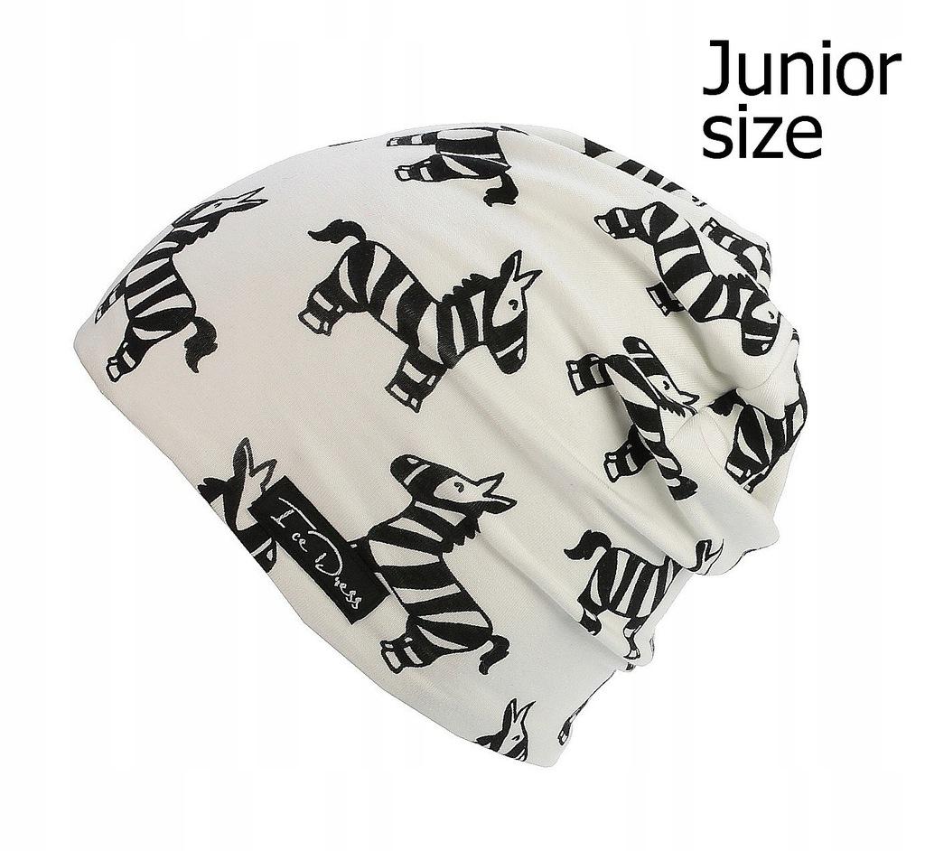 czapka dziecięca IceDress Zebra - White/Black