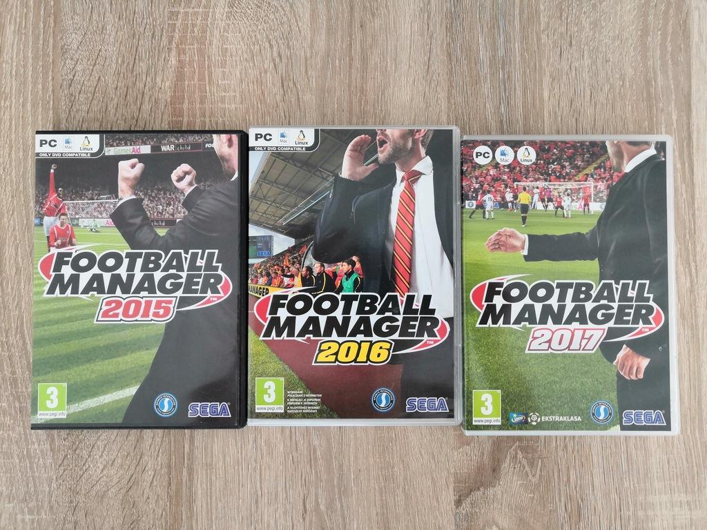 Football Manager 2015, 2016, 2017 ORYGINAŁY BOX