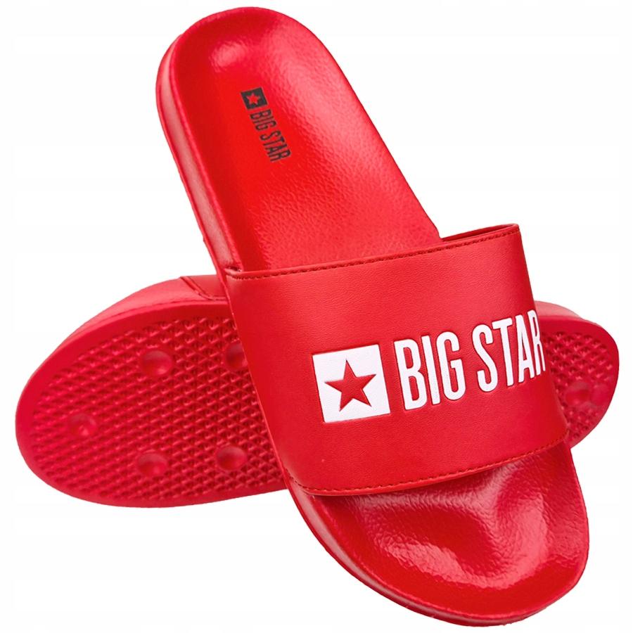 Klapki Big Star męskie czerwone GG174932 46
