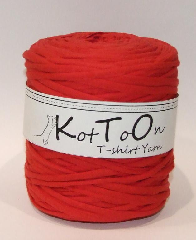 KotTon T-shirt Yarn CZERWONY
