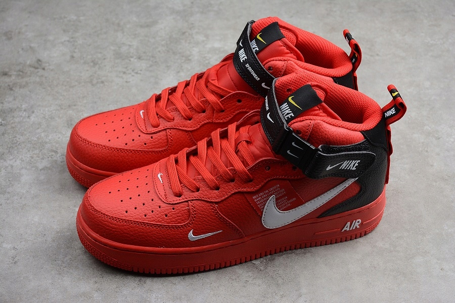 Nike Air Force 1 Mid '07 LV8 Red Black | Buty męskie, Buty