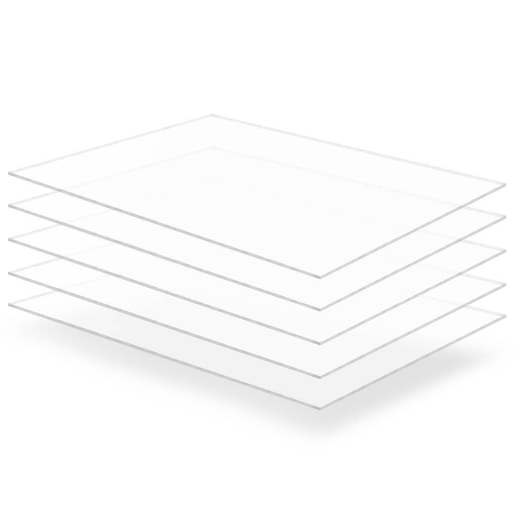 Przezroczyste płyty akrylowe, 5 szt., 60 x 80 cm,