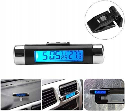 Smandy Car Temperature Clock Clip-on Car Thermomet