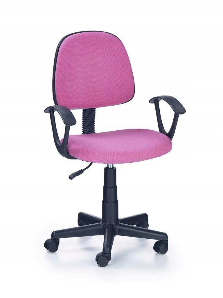 Fotel do biurka obrotowy młodzież RÓŻOWY tkanina