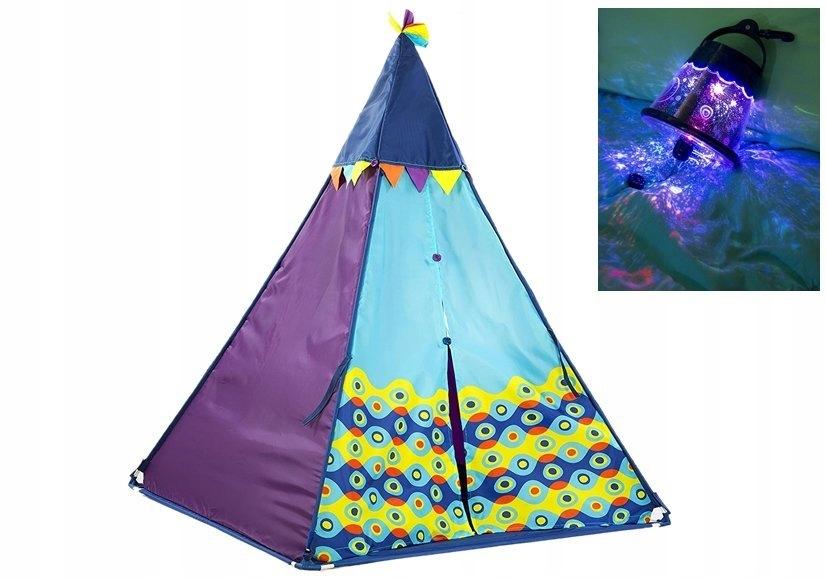 Kolorowy Namiot Tipi z Projektorem