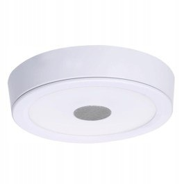 Lampa plafon SONG WHITE 24cm LED głośnik bluetooth