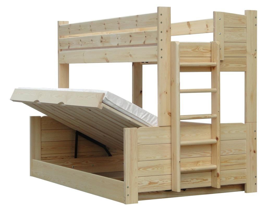 OMEGA 120x200 łóżko piętrowe trzyosobowe 150kg !!!