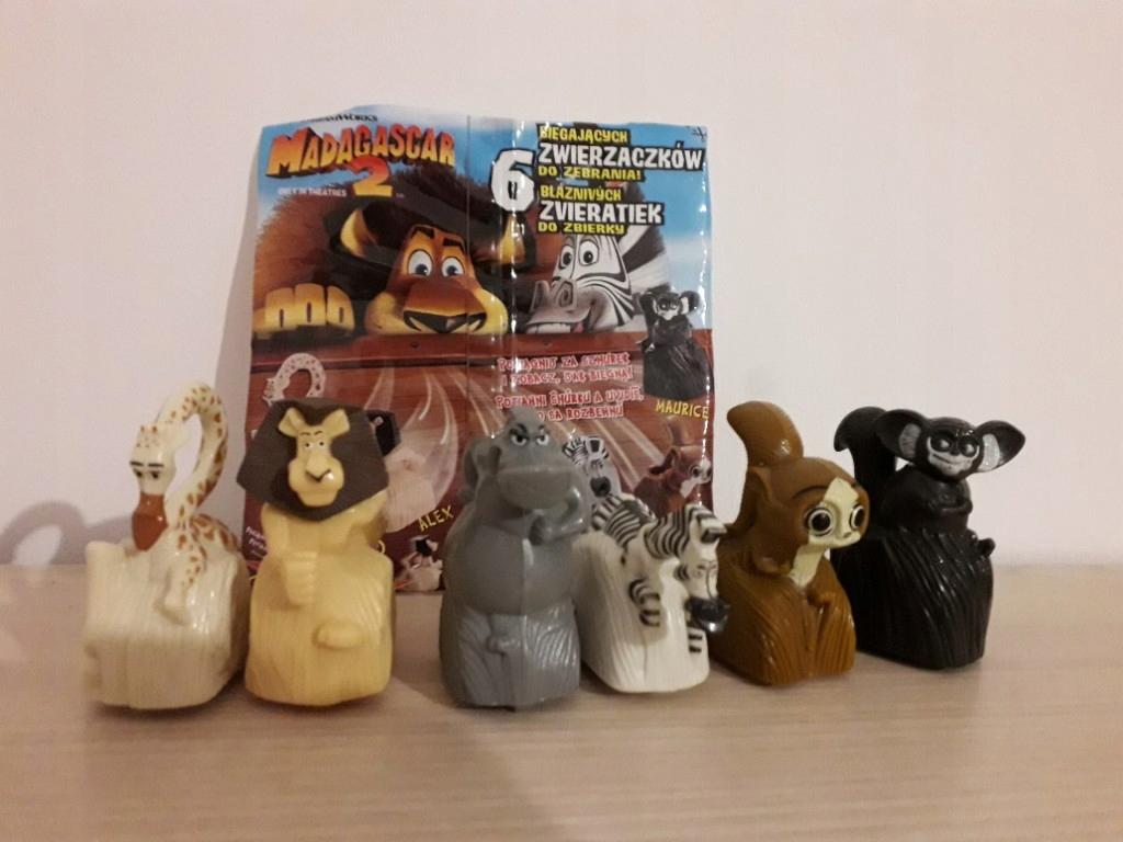 Madagaskar 2 Figurki Z Platkow Nestle 8448701309 Oficjalne Archiwum Allegro