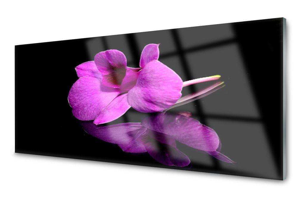 Lacobel Panel Szklany Ścienny Kwiaty Martwa 120x60