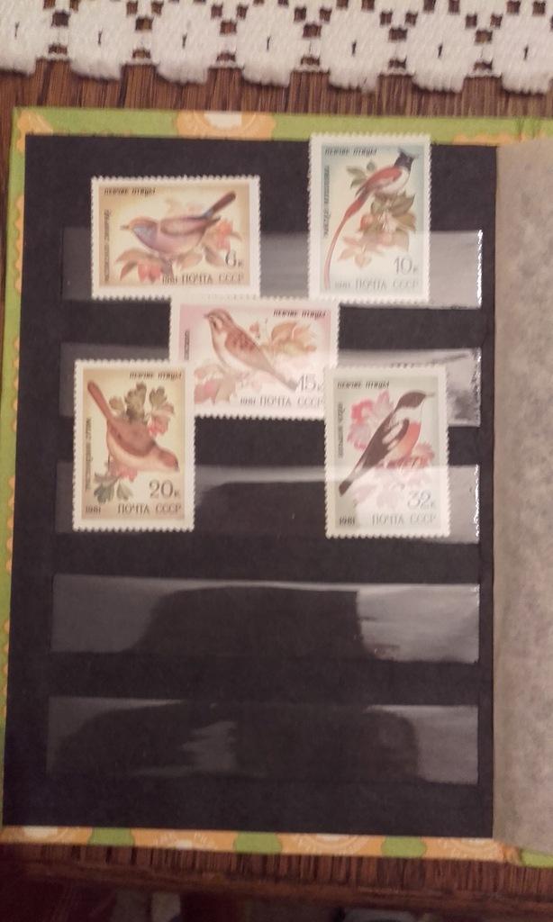 Filatelistyka rosyjska - 5 znaczków- Ptaki z 1981r