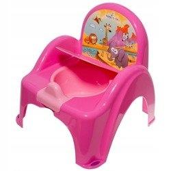 nocnik krzesełko pozytywka Safari różowy