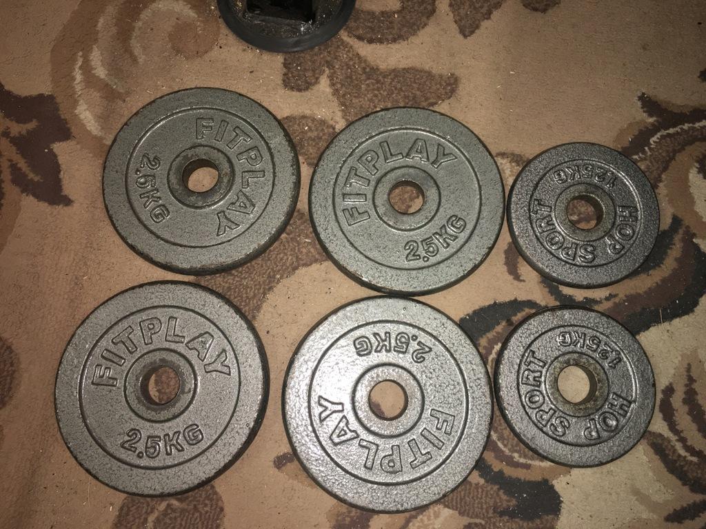 Obciążenie żeliwne zestaw 12,5kg 29mm