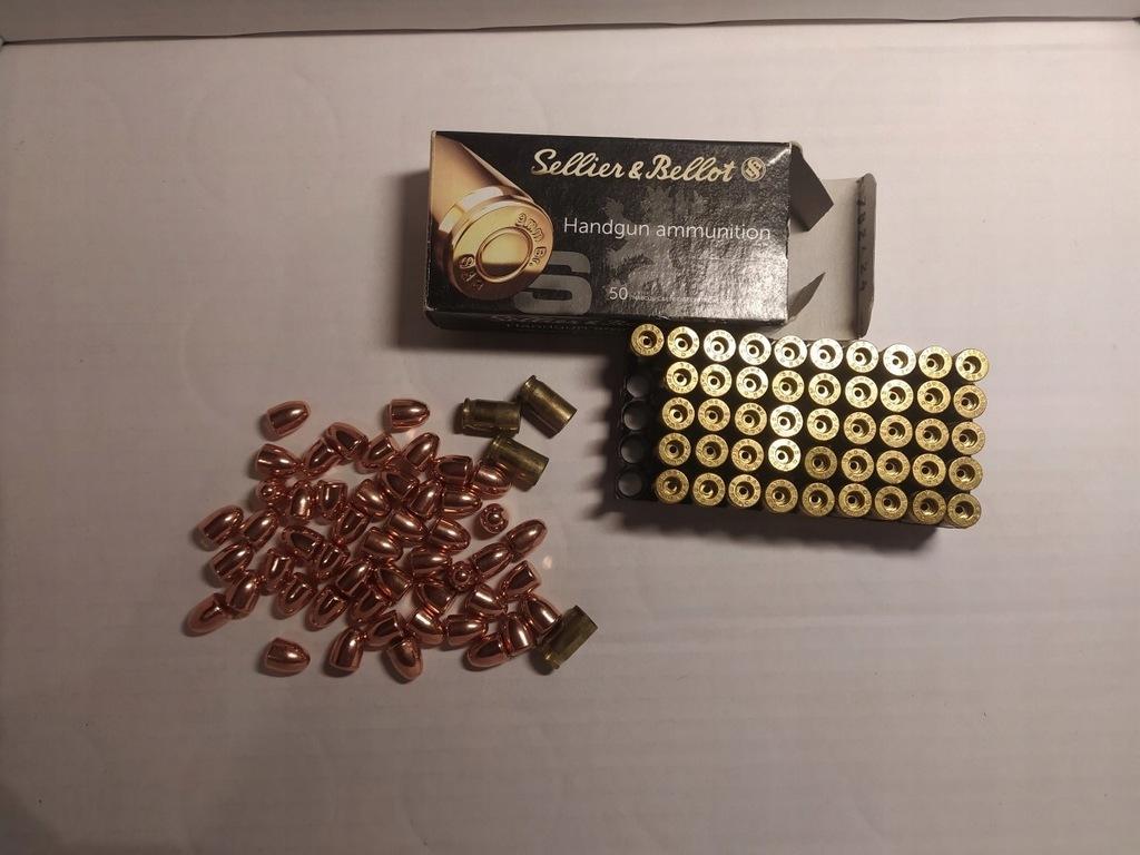 9mm Browning 380 ACP Łuski Pociski - Naboje Deko