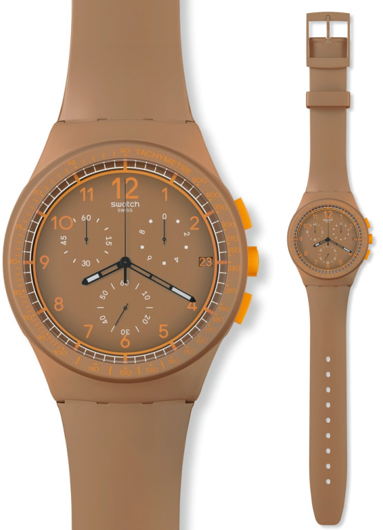 Zegarek Swatch SUSC400 CRAZY NUTS plastic chrono