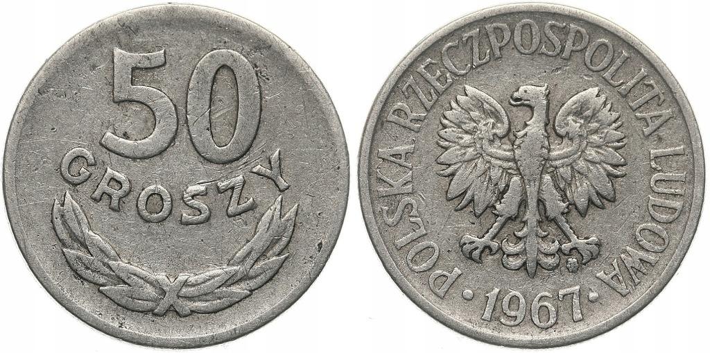 233.Polska - PRL - 50 groszy - 1967 - St.3 #A
