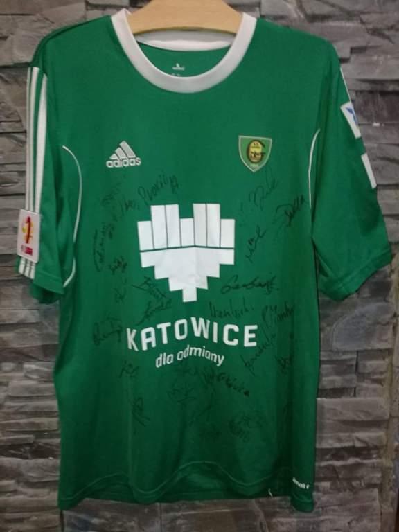 Koszulka GKS Katowice ,autografy całej drużyny ! L