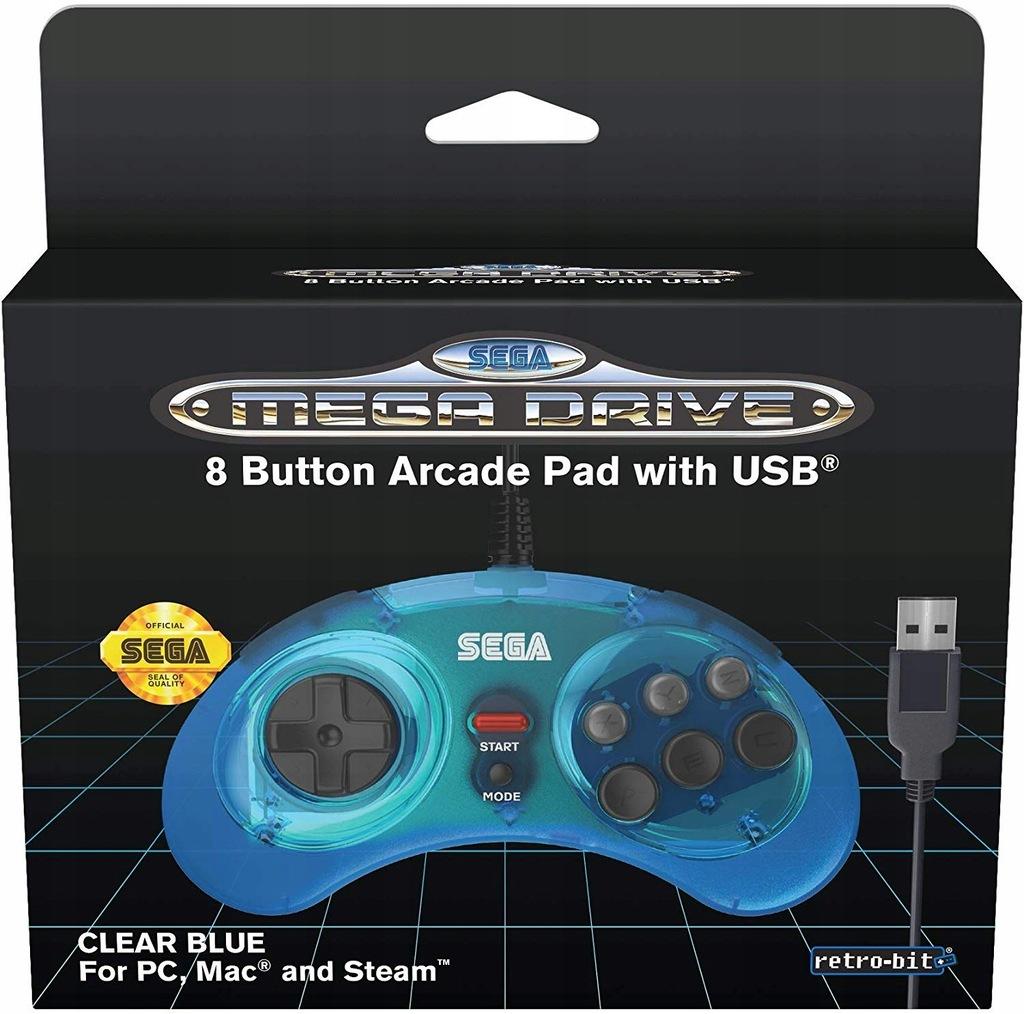 Sega Mega Drive Mini Official kontroler niebieski