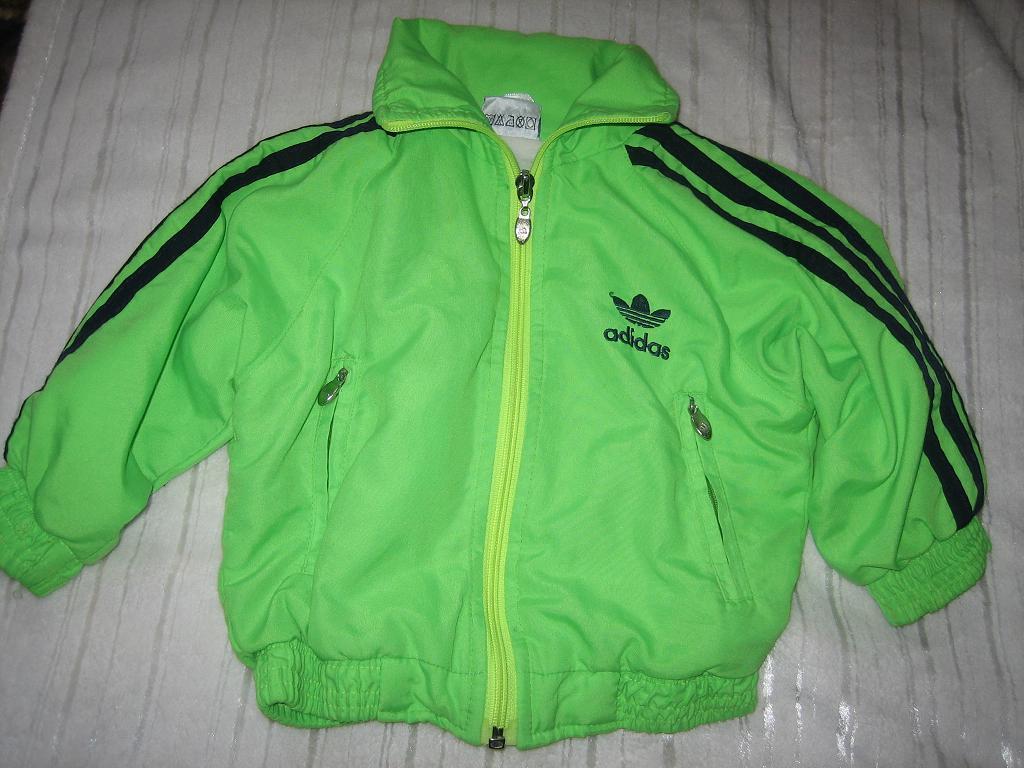 Adidas neonowa kurtka wiosenna jesien 92cm