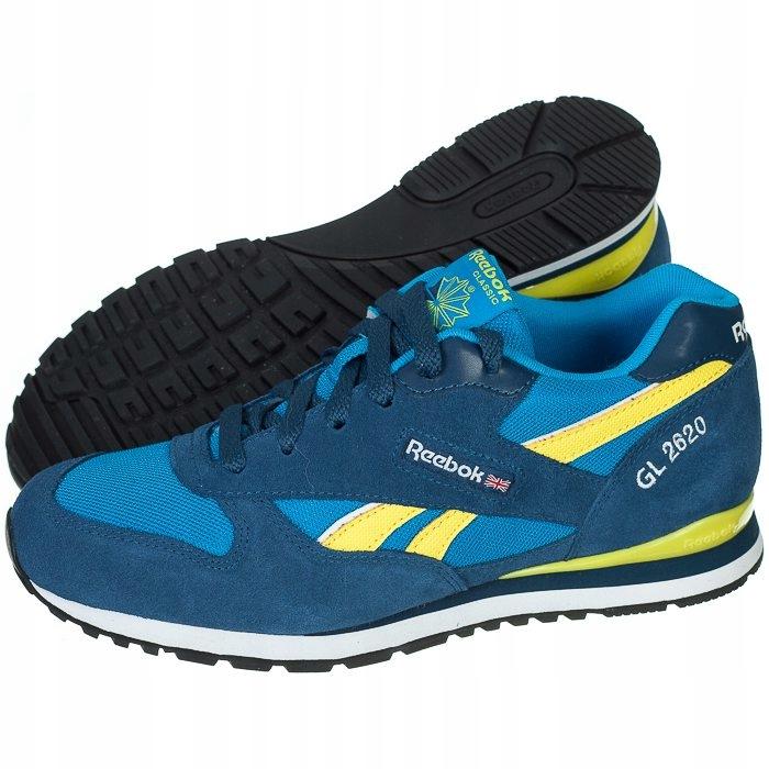 Czarne skórzane buty Reebok rozmiar 38,4 błękitne