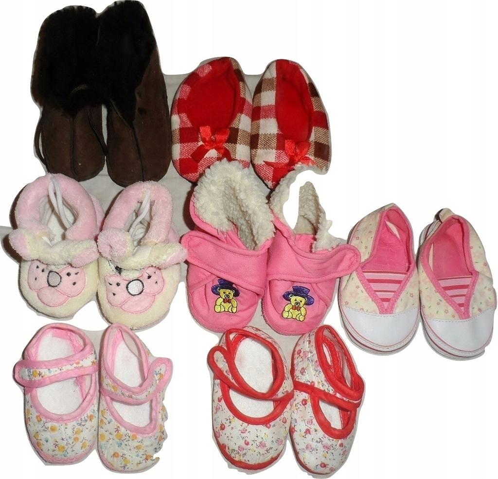 Zestaw bucików, buty, niechodki 7 kpl. 3-9 mies
