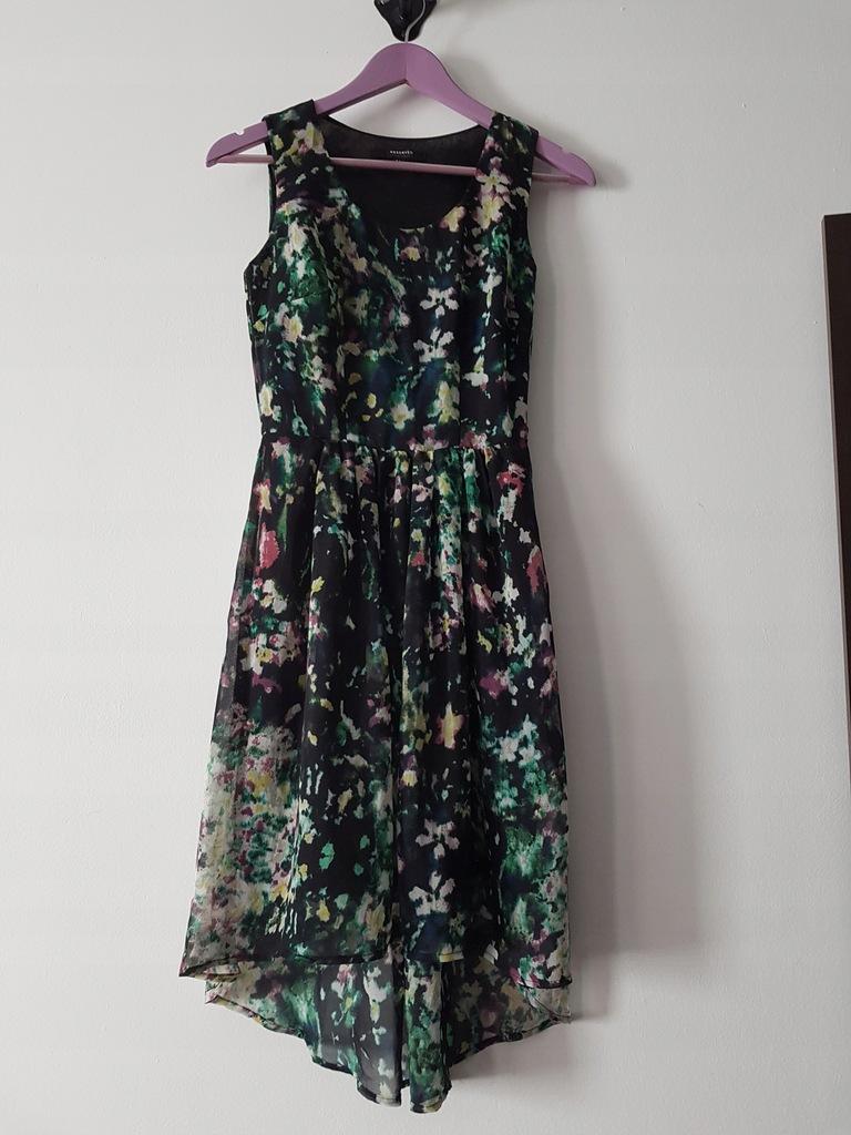 Sukienka RESERVED XS w kwiatki stan idealny