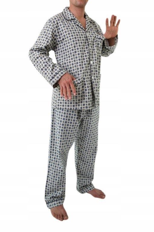 piżama męska flanelowa ODCIENIE OLIWKI M-5XL