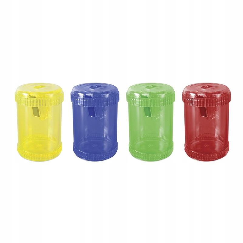 Temperówka plastikowa pojedyncza duża beczka mix