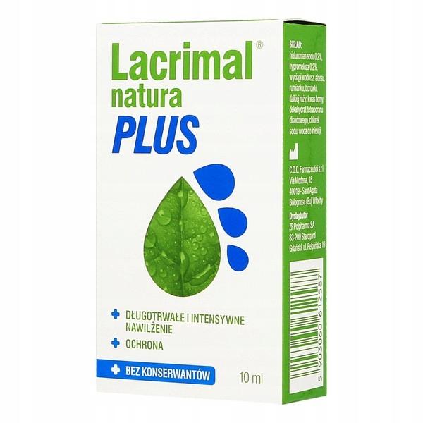 Krople Lacrimal natura PLUS 10 ml bez konserwantów