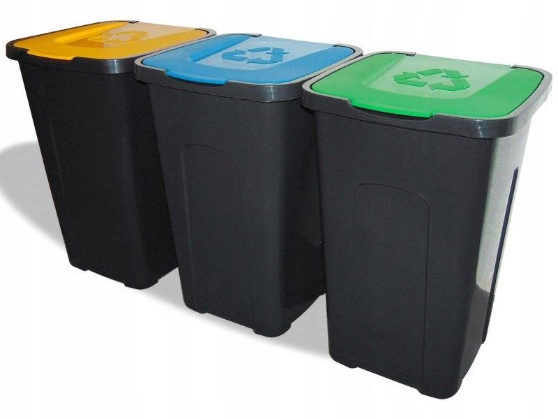POJEMNIK ODPADY SORTA BRĄZOWY 50L śmieci segregacj